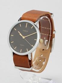 【SALE/20%OFF】TIMEX TIMEX/(U)フェアフィールド 41mm ブラック×ブラウン ライフスタイルステーション ファッショングッズ 腕時計 ブラック【送料無料】
