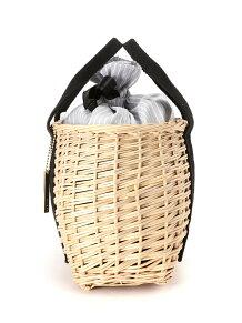 MIAN/ストライプ巾着かごバッグ