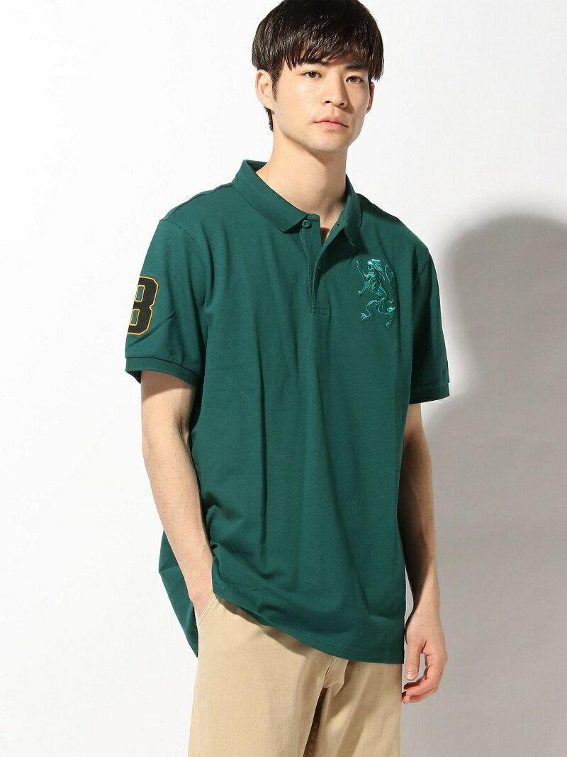 GIORDANO (M)3Dライオンポロシャツ ジョルダーノ カットソー
