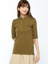 (W)スリムフィットポロシャツ (五分袖)
