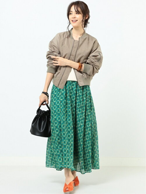 l'atelier × B:MING by BEAMS / プリント マキシスカート 20SS ビームス