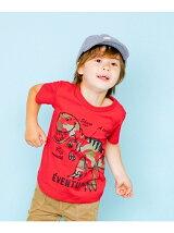 カモフラ恐竜Tシャツ
