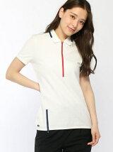 (W)『Made in France』 ジップネックポロシャツ (半袖)