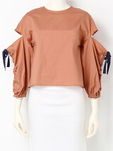 SHIRRING SLEEVE TOPS
