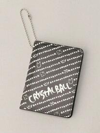 CRYSTAL BALL Repeated Sign-20star- クリスタルボール 財布/小物 パスケース/カードケース ブラック