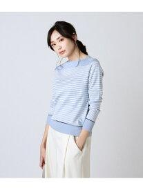【SALE/42%OFF】NEWYORKER おとなニットTシャツ/成型ボーダーカットソー ニューヨーカー カットソー Tシャツ ブルー ベージュ ホワイト【送料無料】