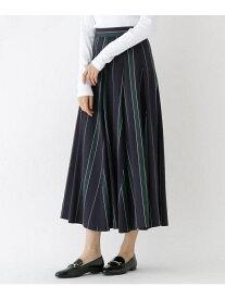ストライプタックフレアースカート ドレステリア スカート【送料無料】