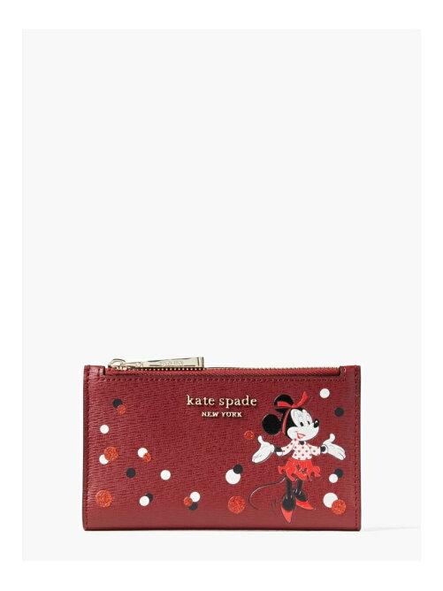 ディズニー×ケイト・スペード ニューヨーク ミニーマウス コレクション スモール スリム バイフォールド