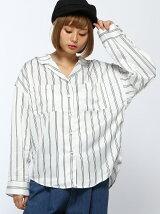 【BROWNY STANDARD】(L)サテン開襟シャツ