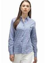ギンガムチェック カットソーシャツ (長袖)