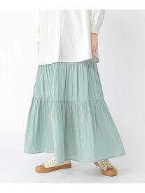 【SALE/37%OFF】studio CLIP ビンテージサテンSK スタディオクリップ スカート ロングスカート グリーン グレー ブルー パープル