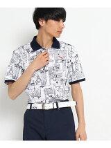 パノラマプリントポロシャツ