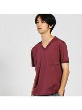 【Recency of Mine】シルケット天竺VネックTシャツ