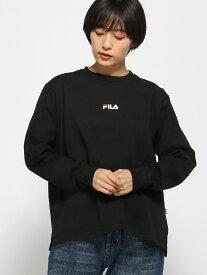 【SALE/57%OFF】FILA (W)FILAバックロゴT/LS グローバルワーク カットソー Tシャツ ブラック ホワイト レッド