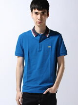 『WEB限定』ストライプ襟ポロシャツ (半袖)