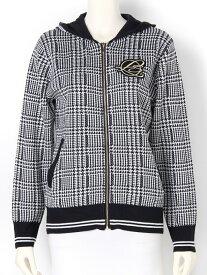 【SALE/40%OFF】rienda suelta golf wear ジャガードニット(柄)グレンチェックパーカー リエンダスエルタゴルフウェア カットソー パーカー ネイビー【送料無料】