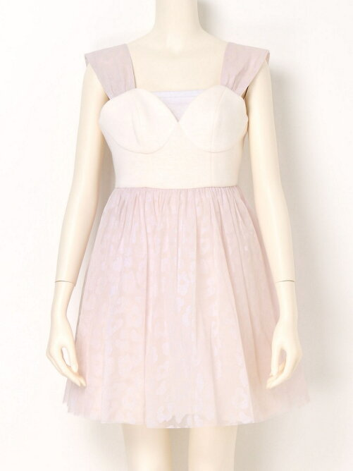 グリッターレオパードドレス