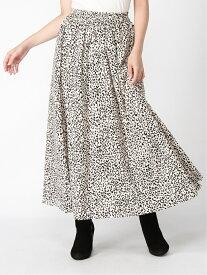 【SALE/40%OFF】INGNI 単色レオパード柄ギャザー/SK イング スカート プリーツスカート/ギャザースカート ホワイト ブラック