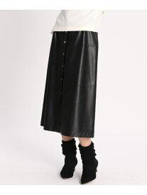 【SALE/40%OFF】INED 《Luftrobe》フェイクレザースカート イネド スカート フレアスカート ブラック ブラウン【送料無料】