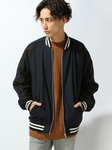 【WEGO】【BROWNY STANDARD】(M)ラインジップスタジャン