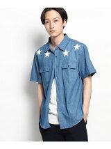 【WEB限定】デニムスタープリント半袖シャツ