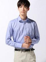 (M)C-100 形態安定 ラウンドカラーシャツ 長袖