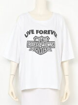 LIVE FOREVER 肩空き Tシャツ