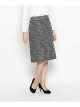 スラブラインツイードタイトスカート