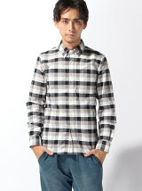 (M)吸汗速乾 DFTオックスチェックシャツ長袖