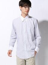 (M)C-100 形態安定 タブカラー 長袖