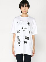 (W)CNY21 Sign & Symbol Oversized Tee W