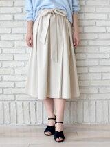 ウエストリボンタックギャザースカート