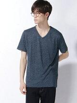 BEAMS / フランダースリネン Vネック Tシャツ
