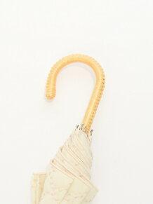 ビッグドット刺繍晴雨兼用長傘 日傘