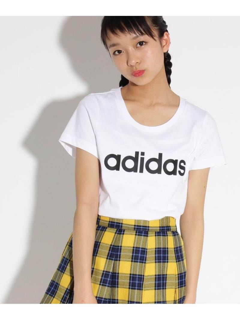 PINK-latte adidas ロゴTシャツ ピンク ラテ カットソー