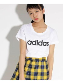 【SALE/20%OFF】PINK-latte adidasロゴTシャツ ピンク ラテ カットソー Tシャツ ホワイト ピンク ブルー
