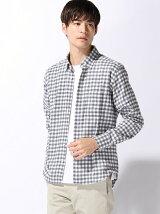 (M)C-100 ジャケットインシャツ 起毛 ボタンダウン 長袖