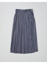 【HIGH STREET COLLECTION】WRAP WIDE PLEATS SKIRT