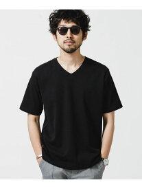 【SALE/10%OFF】nano・universe <イヤな臭いを軽減>Anti Smell VネックTシャツ 半袖 ナノユニバース カットソー Tシャツ ブラック グレー ホワイト