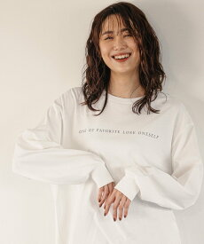 GLOBAL WORK (W)アソートプリントロンT グローバルワーク カットソー Tシャツ ホワイト グレー