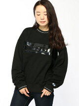 ENAMEL PATCH SWEAT TOP