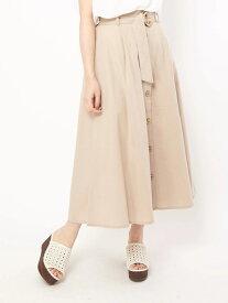 【SALE/42%OFF】a.g.plus 【ParkAve】前ボタンベルト付きスカート エージープラス スカート スカートその他 ベージュ ネイビー カーキ レッド