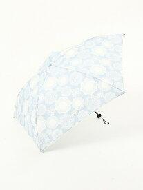 Afternoon Tea フラワーレース晴雨兼用軽量折りたたみ傘雨傘 アフタヌーンティー・リビング ファッショングッズ 日傘/折りたたみ傘 ブルー ネイビー