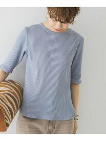 【SALE/30%OFF】URBAN RESEARCH 5分袖リブカットソー アーバンリサーチ カットソー Tシャツ ブルー ホワイト グレー イエロー ブラック