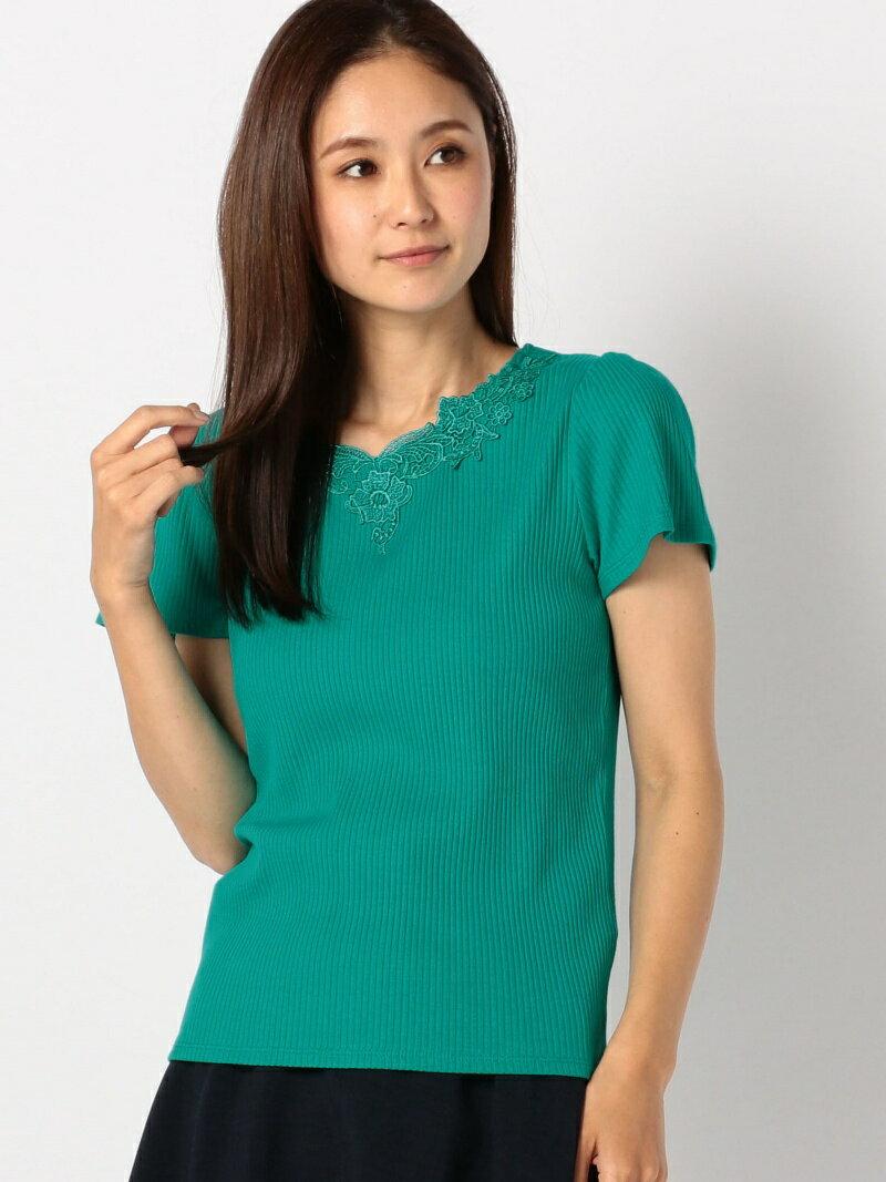 【SALE/23%OFF】MEW'S REFINED CLOTHES レースリブカットソー ミューズ リファインド クローズ カットソー【RBA_S】【RBA_E】