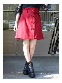 【SALE/61%OFF】dazzlin ワイドベルトミニスカート ダズリン スカート 台形スカート/コクーンスカート レッド グリーン パープル ベージュ
