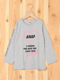 【SALE/40%OFF】ANAP KIDS ANAPKIDSハートプリントチュニック アナップ ワンピース キッズワンピース グレー パープル ホワイト