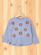 星カット刺繍トレーナー