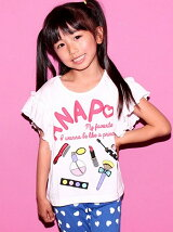 ANAPKIDS袖フリルコスメTOPS