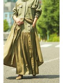 【SALE/40%OFF】ROSE BUD MILITARYSIDEBUTTONLONGSKIRT ローズバッド スカート スカートその他 カーキ【送料無料】